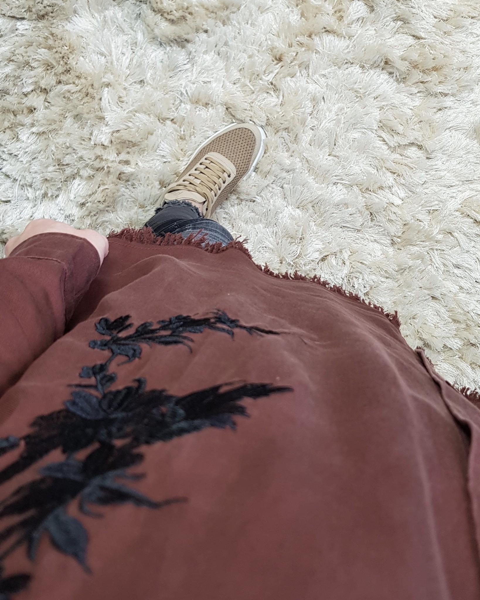 Oversized blouse trapani choco