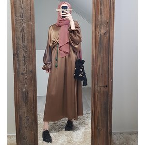 Satin dress togano brown