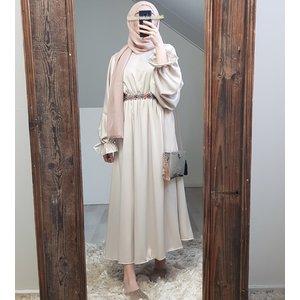Satin dress togano beige