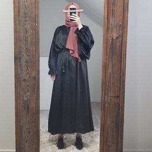 Satin jurkje togano zwart
