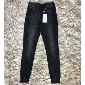 Ripped jeans sanremo zwart