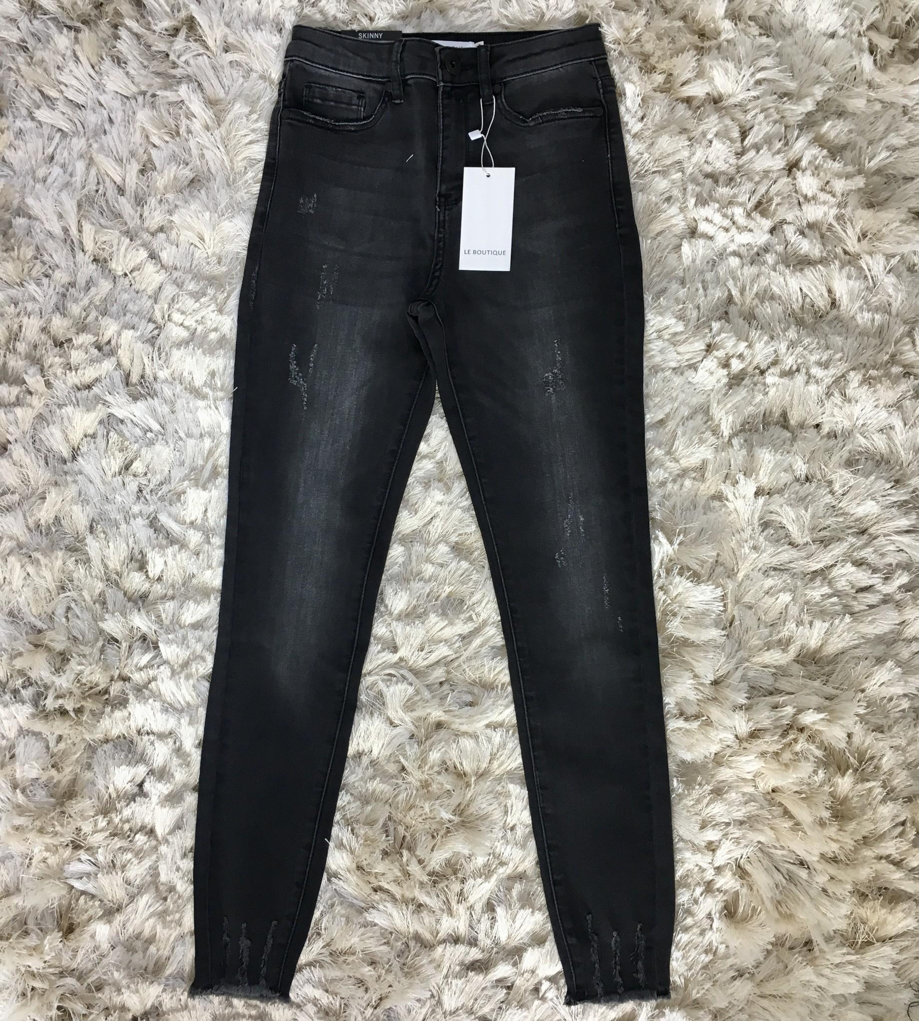 Ripped jeans sanremo black