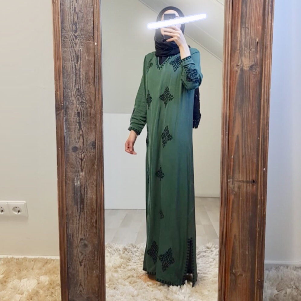 Dress bagnara green