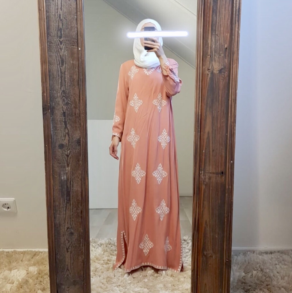 Dress bagnara peach
