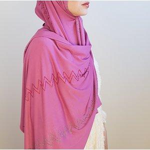 rhinestone hijab jersey  bologna fuchia