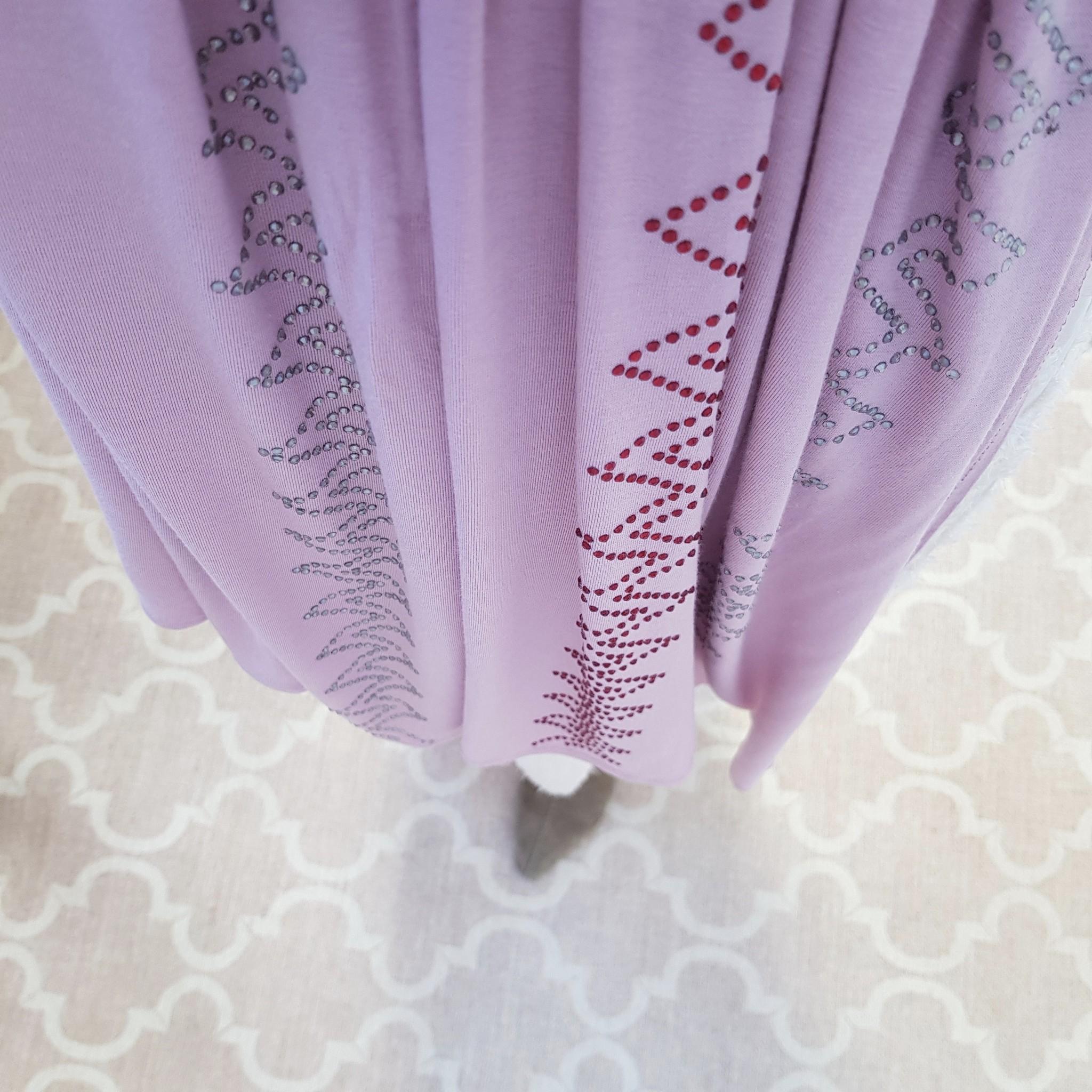 rhinestone hijab jersey  bologna pink