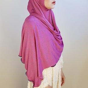 rhinestone hijab jersey milano fuchia