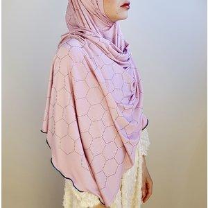 rhinestone hijab jersey milano pink