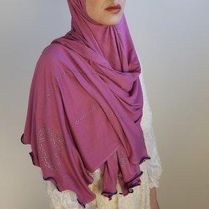 rhinestone hijab jersey venetia fuchia