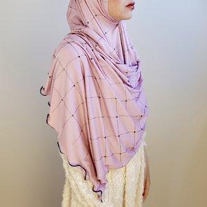 rhinestone hijab jersey roma pink