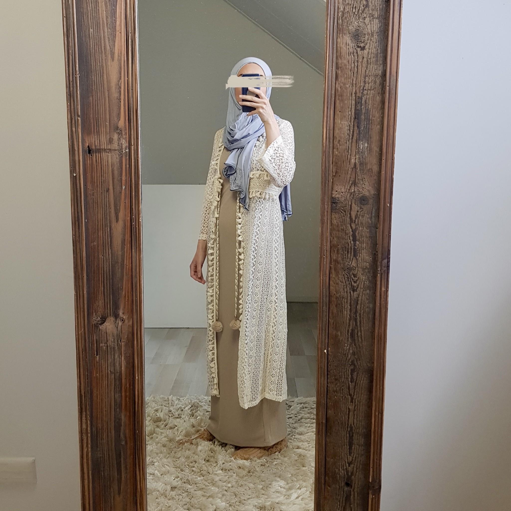 kimono lace capri