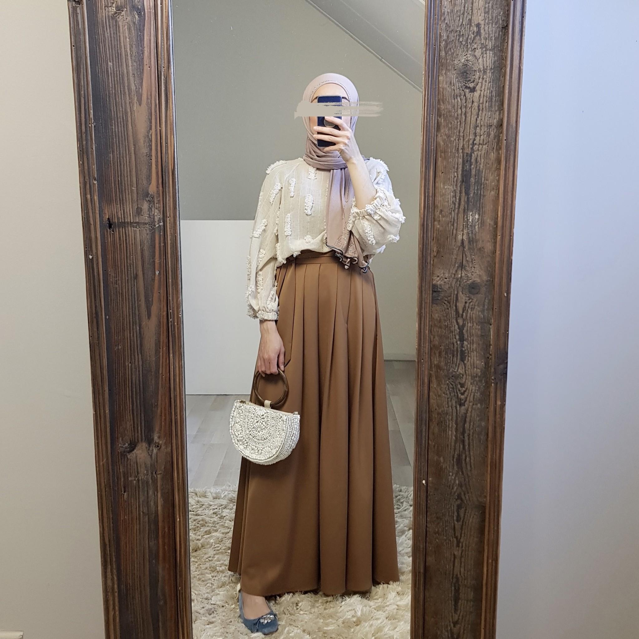 skirt ercalano brown - Copy