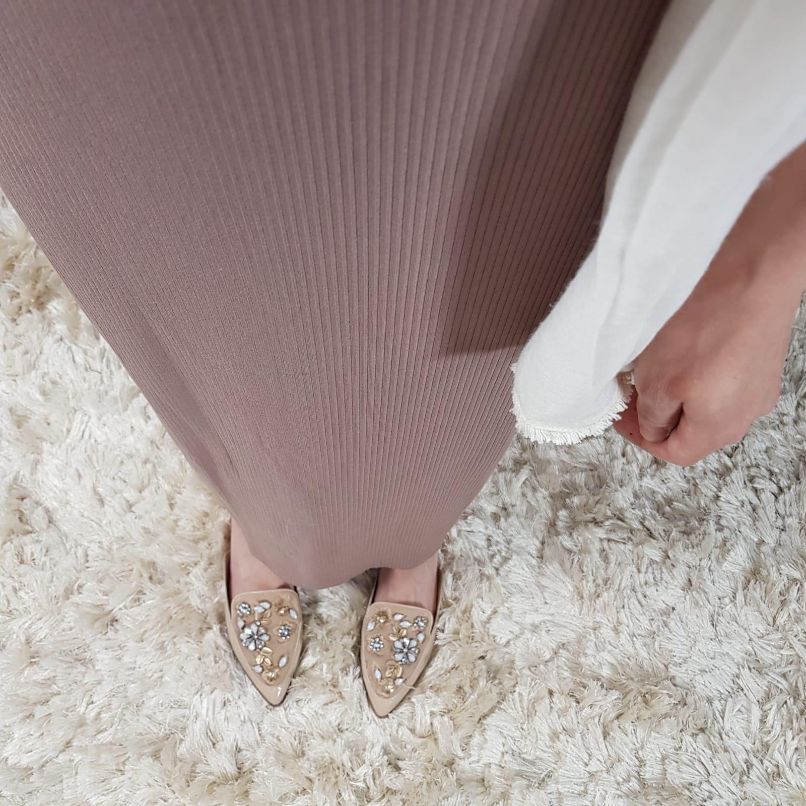 stretch rok noto oud pink