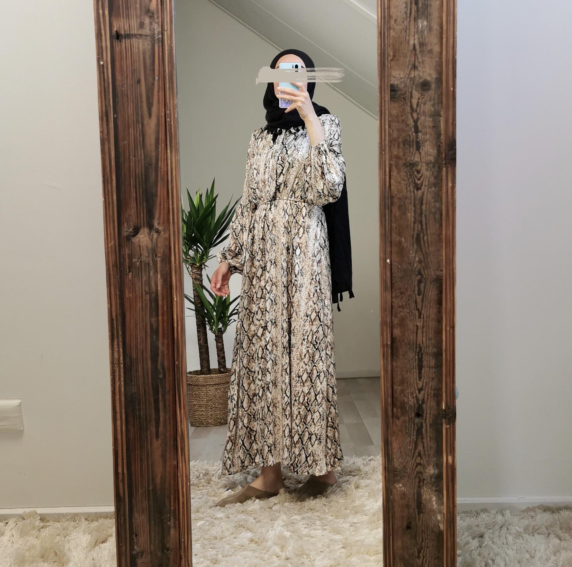 Dress frisanco snake beige