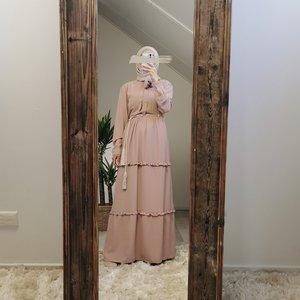 Maxi dress alba pink