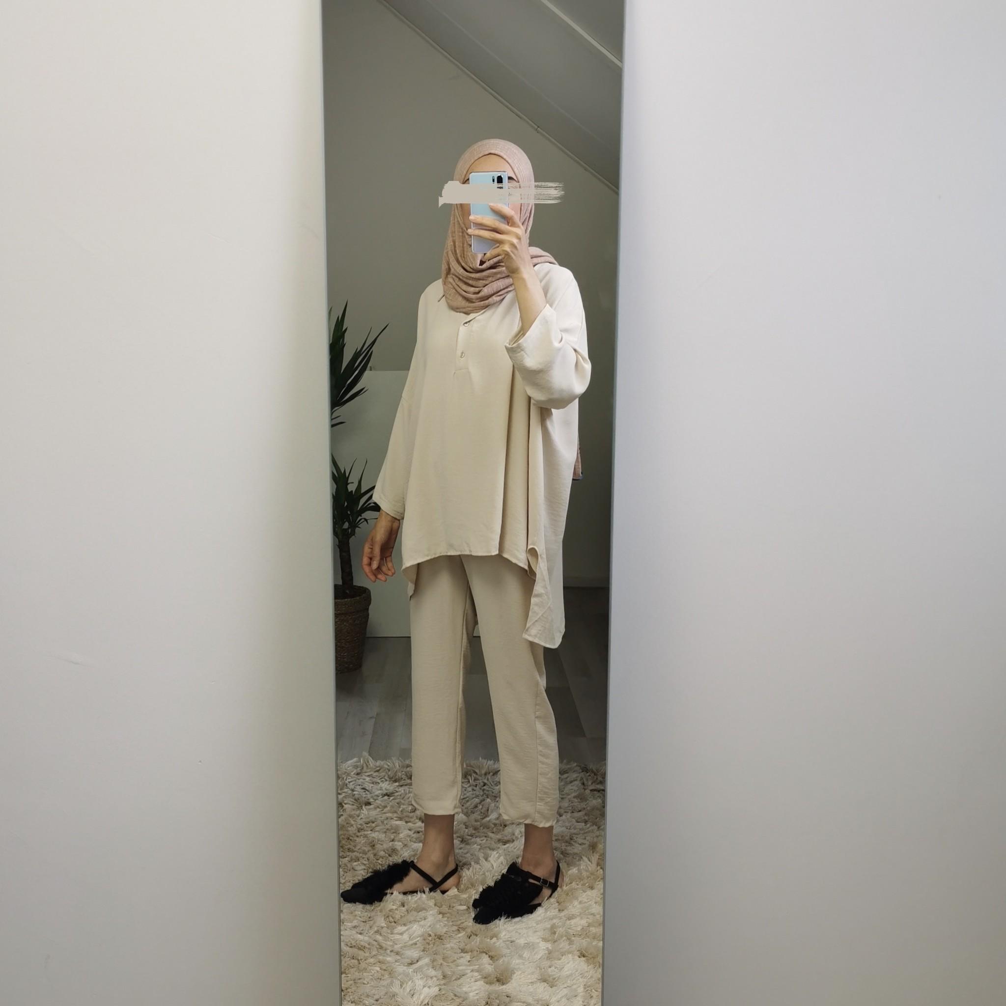 Loose fit setje augusta l-beige