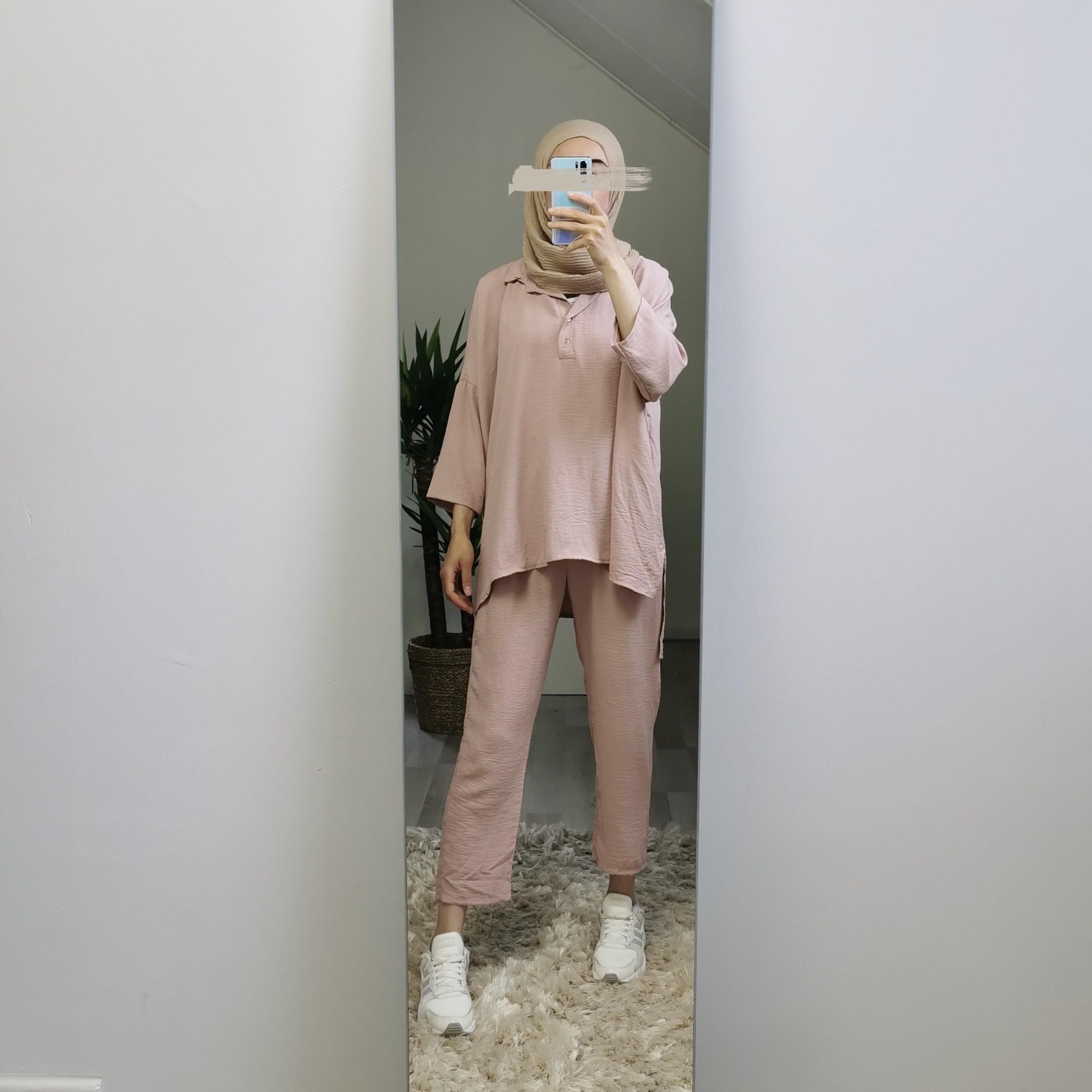 Loose fit setje augusta pink
