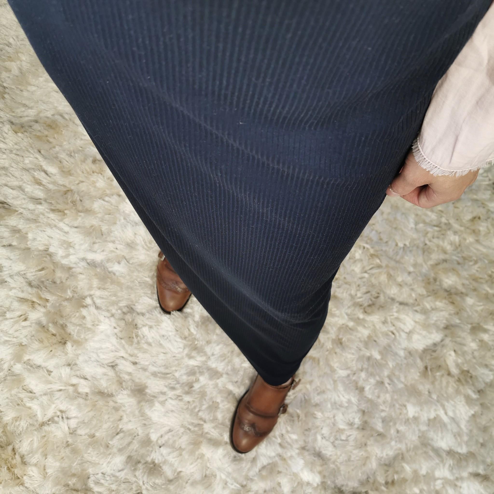 stretch rok noto navy blue