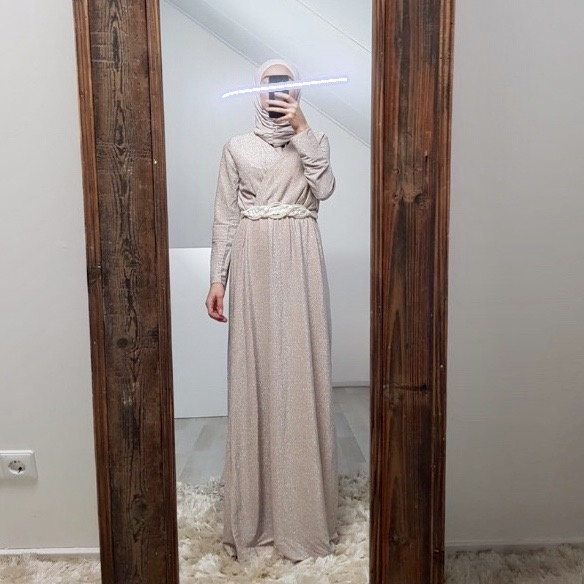 occassion dress ferezi beige