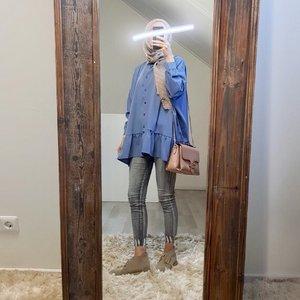 Tuniek nocera blauw  (oversized)
