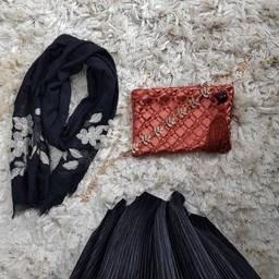 pleated dress amantea black