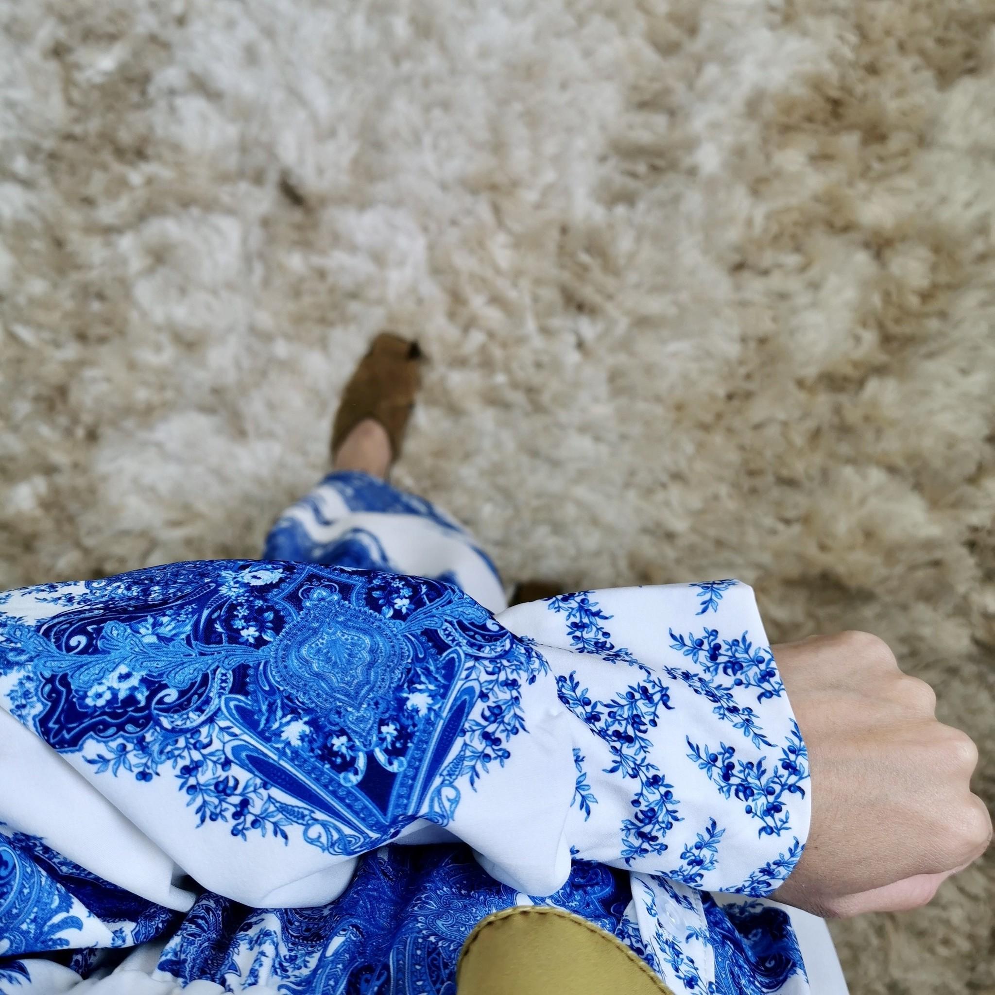 jurk massafra blauw