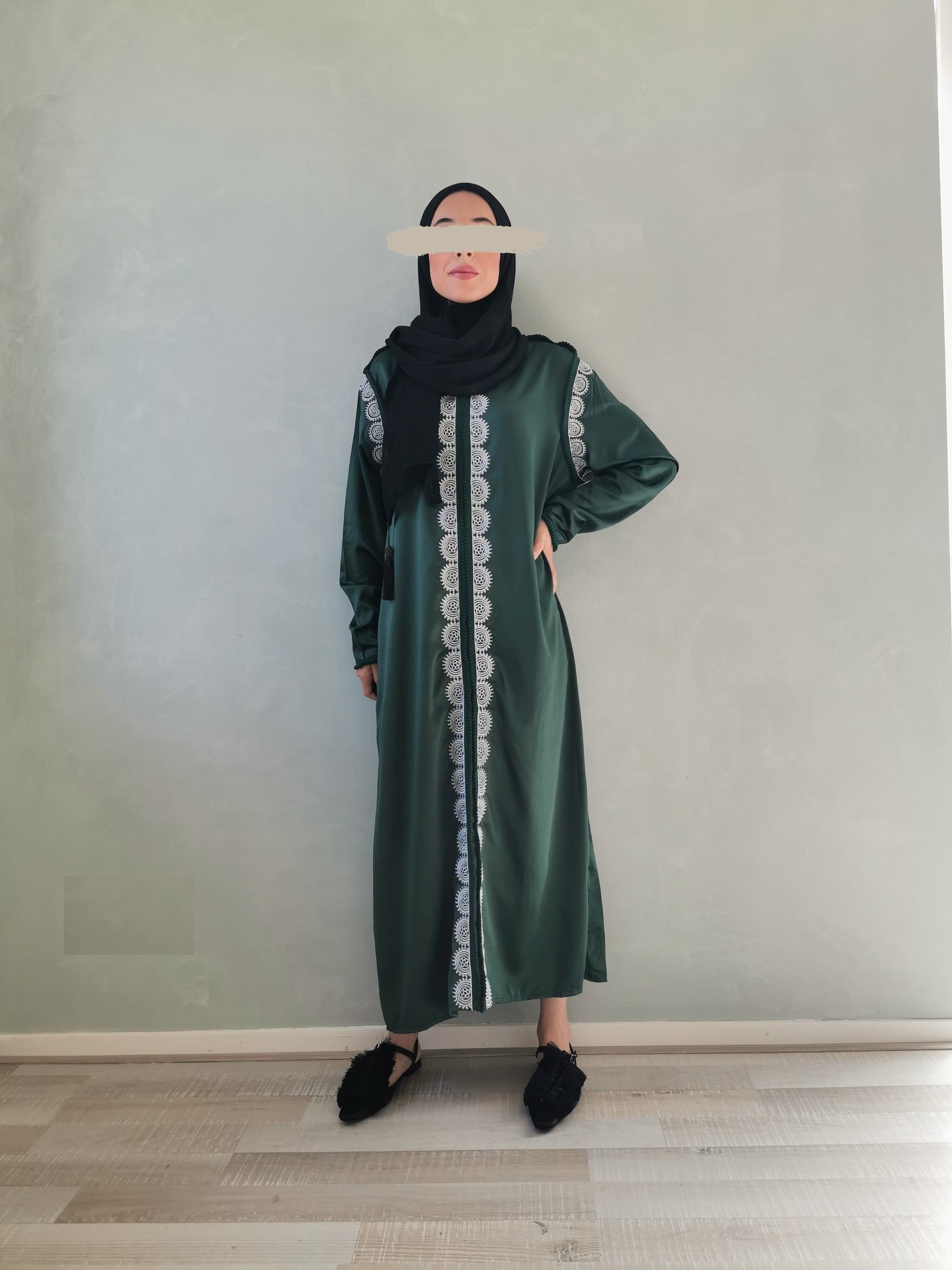 kaftan dress arborea green