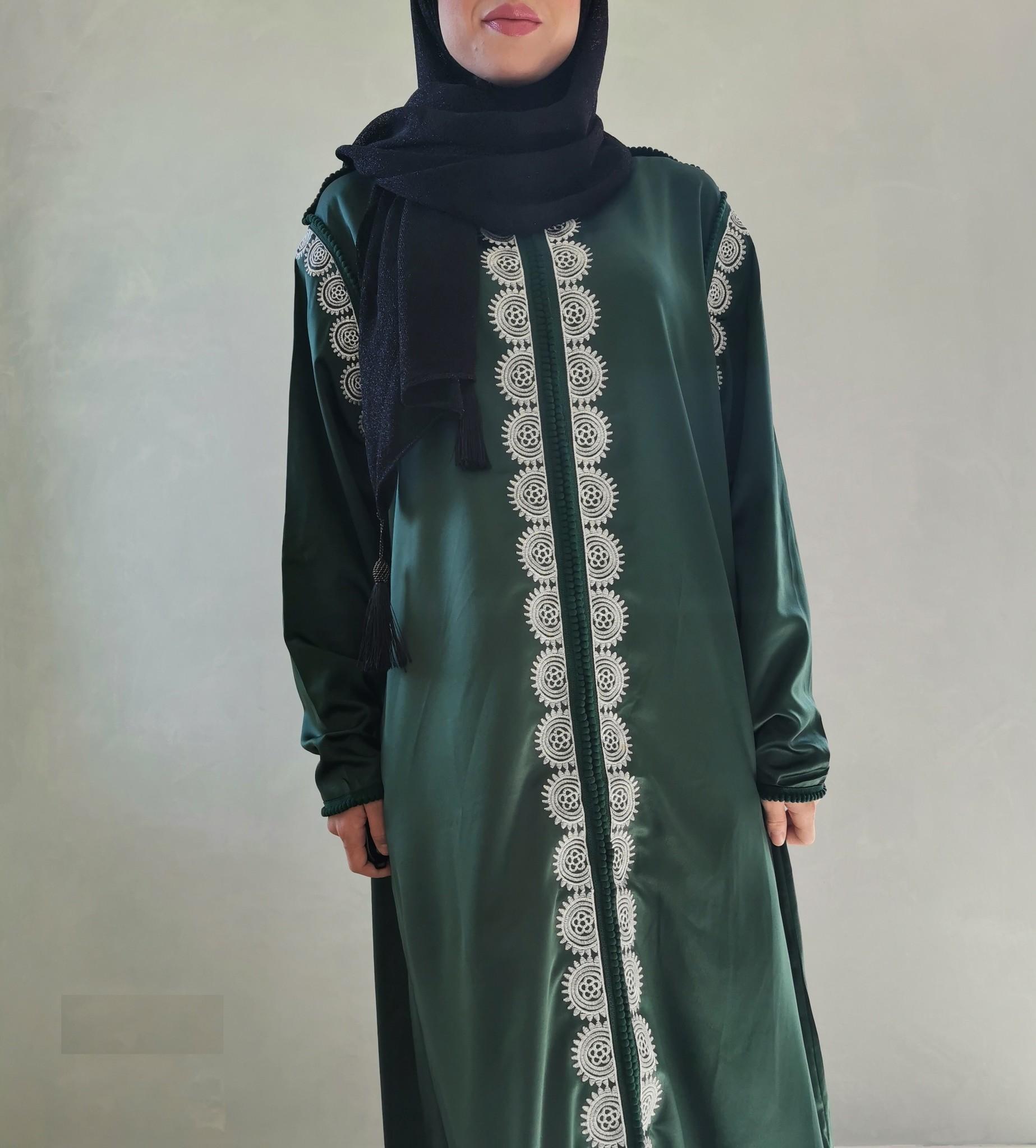 kaftan jurk arborea groen