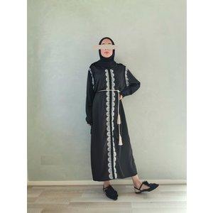 kaftan dress arborea black