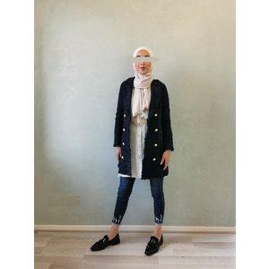 Tweed jasje alezio navy