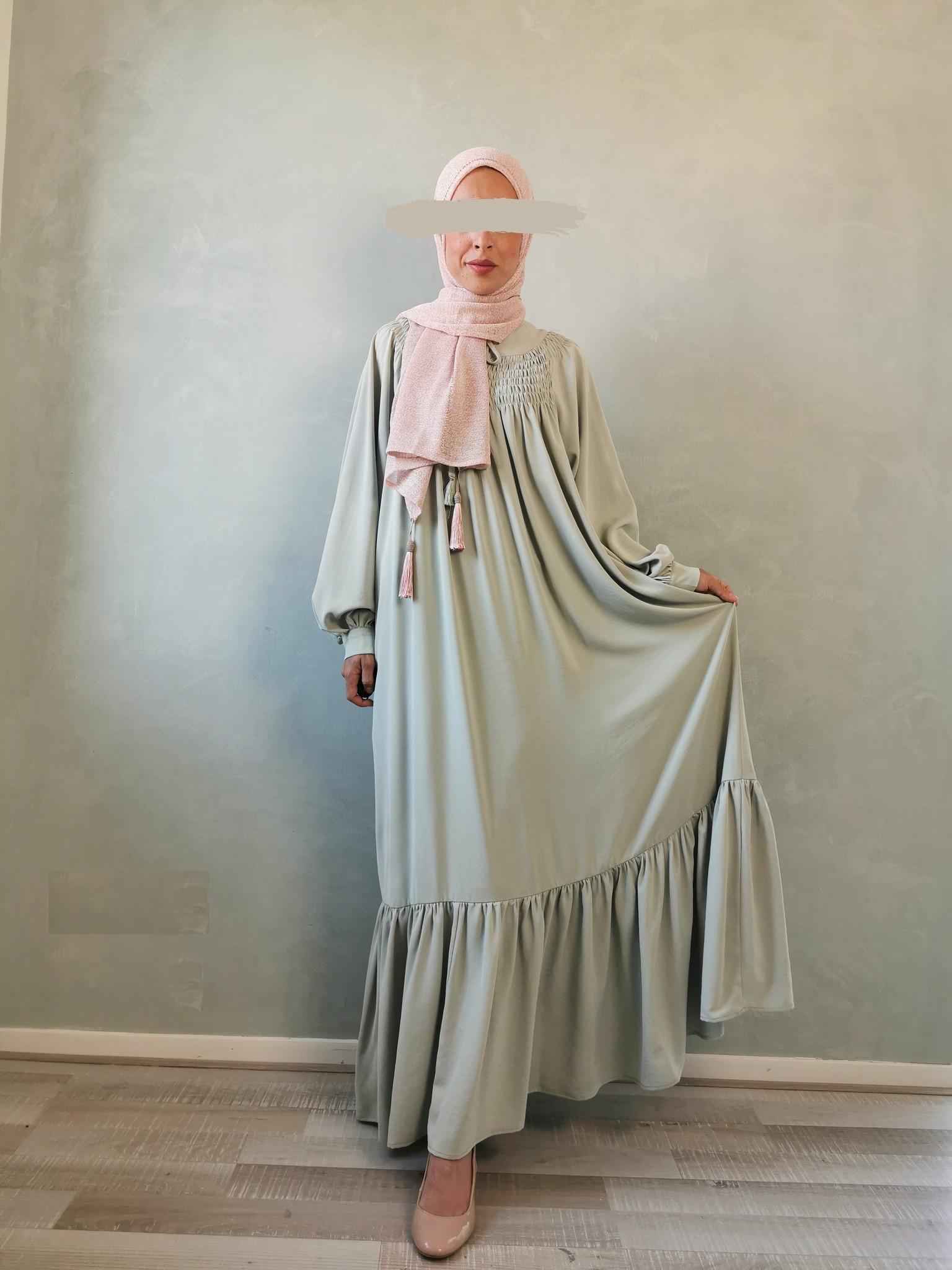 Maxi jurk andalo mint groen