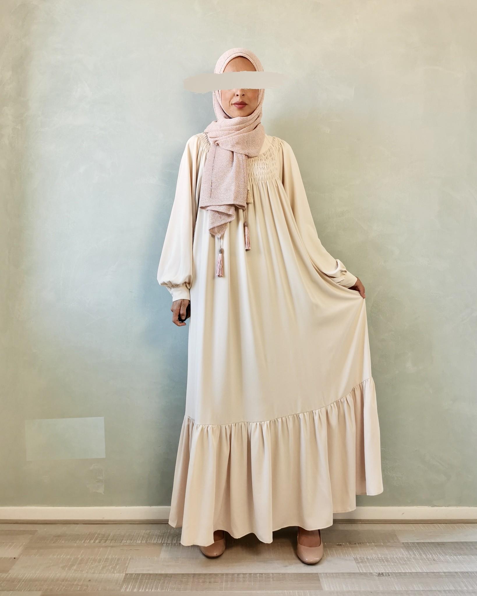 Maxi jurk andalo beige