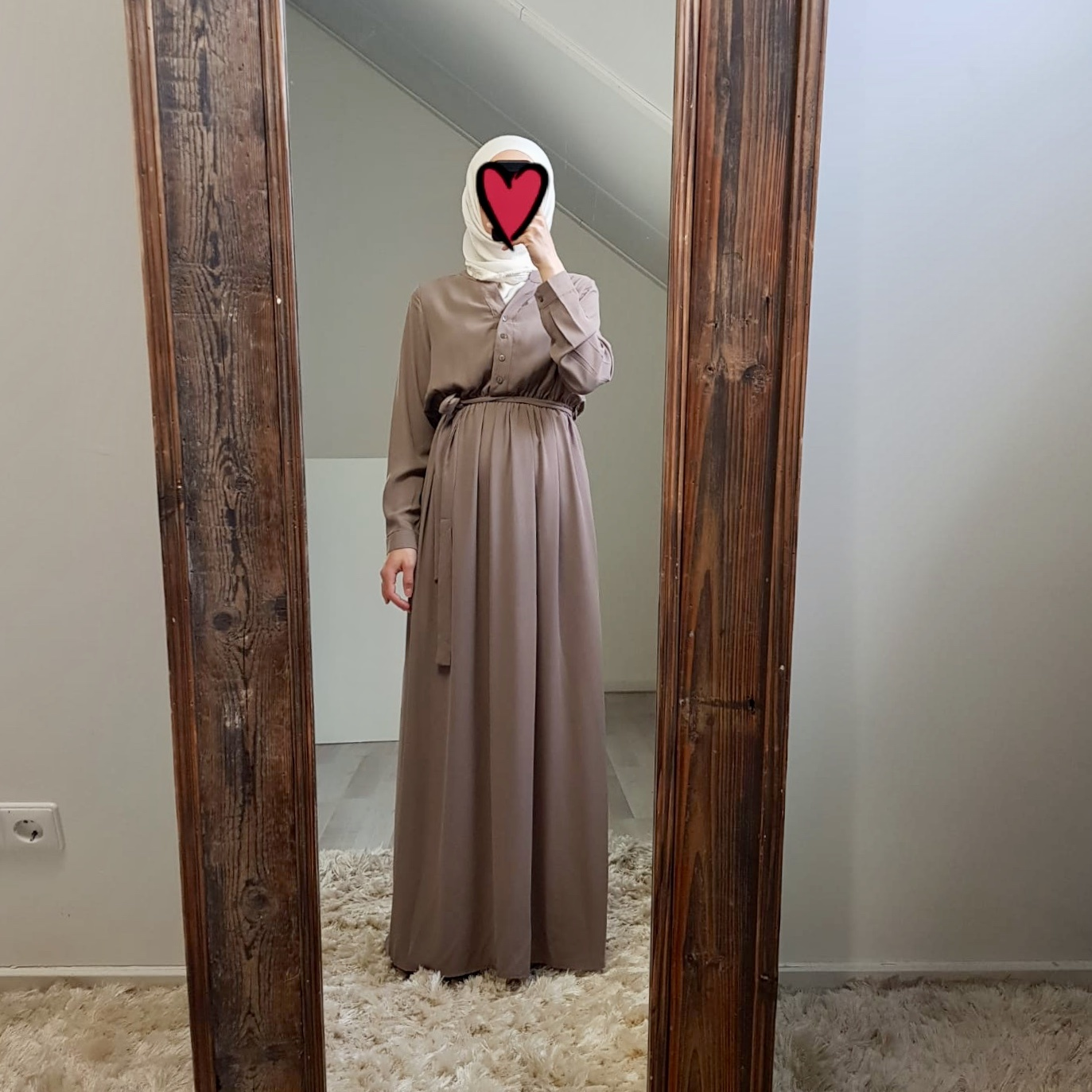 Maxi jurk rimini taupe