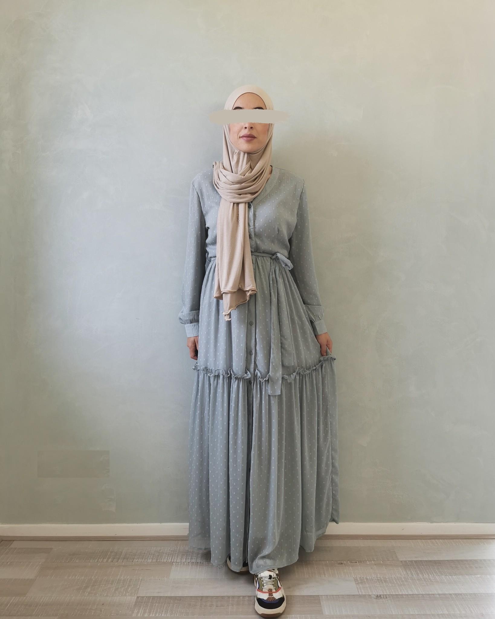 jurk aprica mintblauw