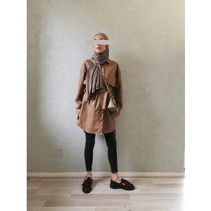 Leather look jasje eston camel-bruin