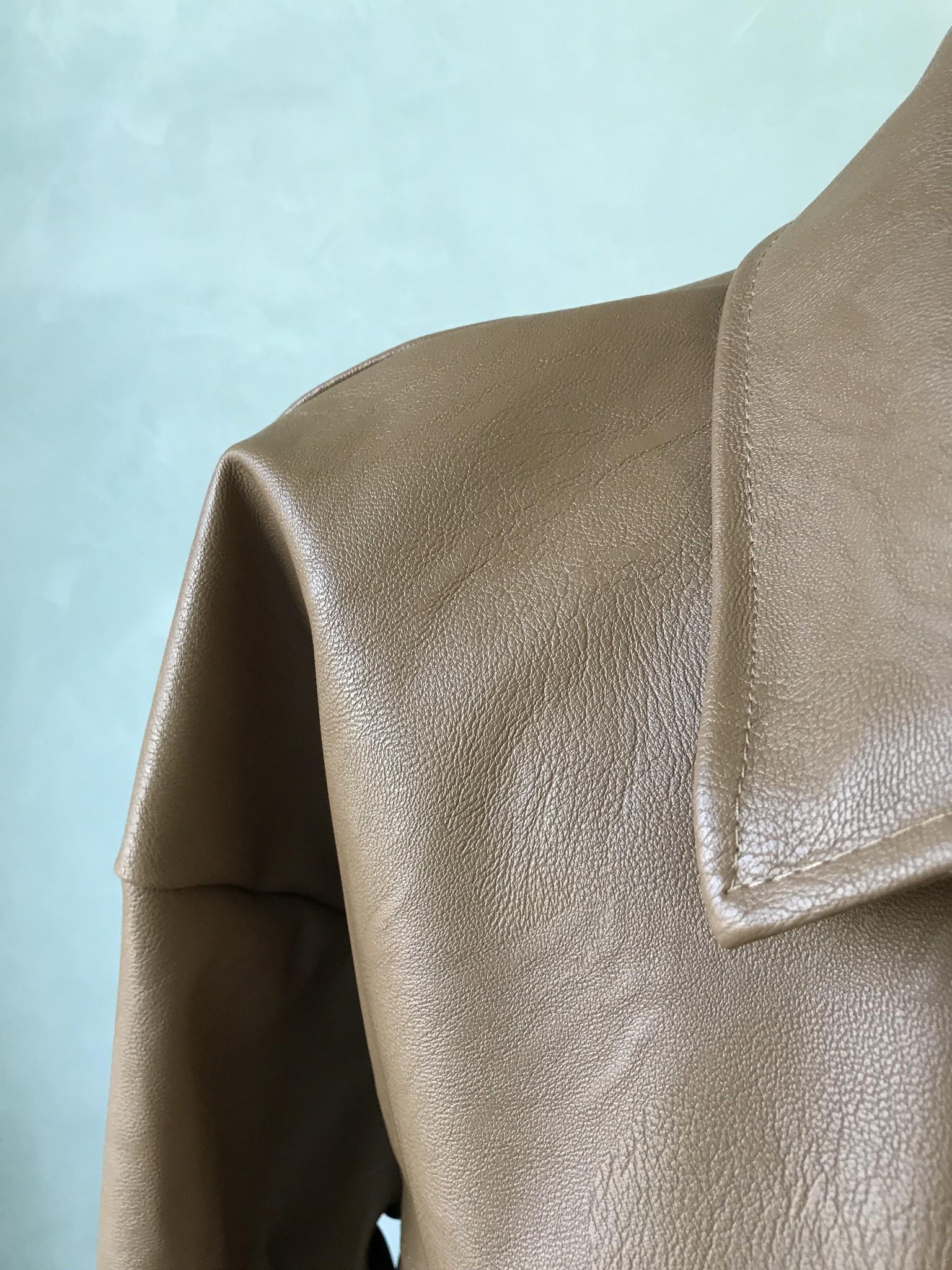 Leather look jasje eston camel bruin