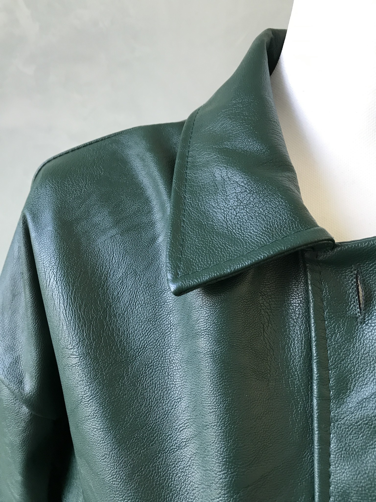Leather look jacket eston green