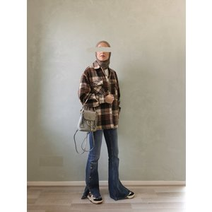 Checked shirt-jacket alford bruin