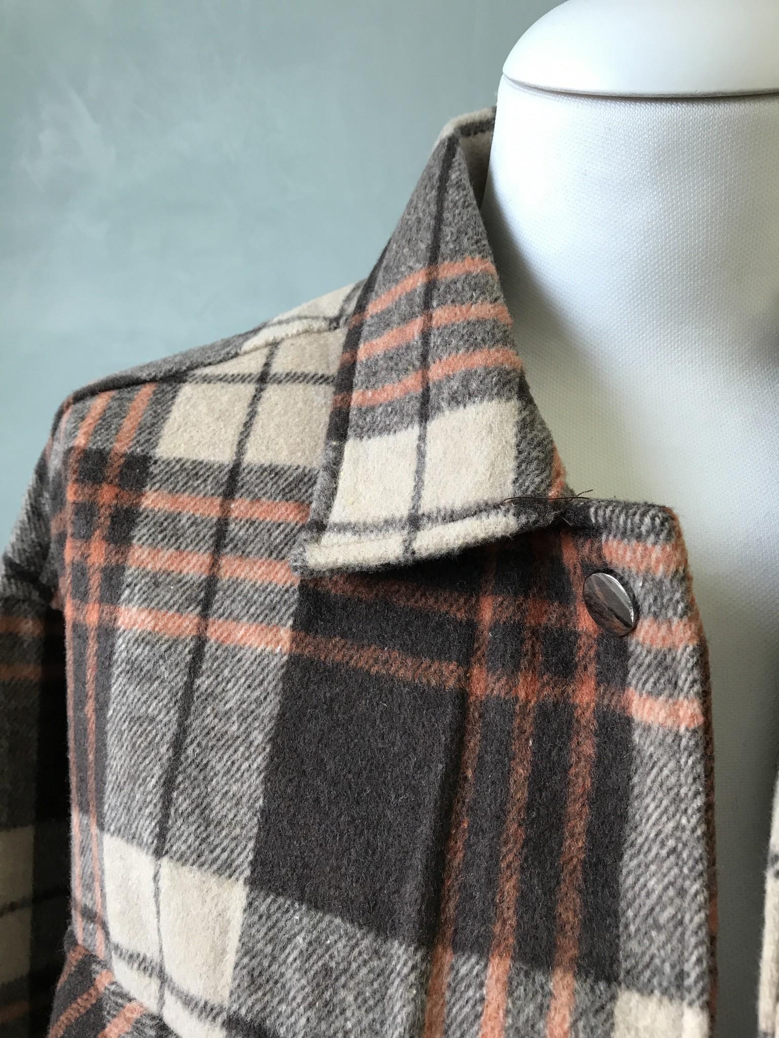 Checked shirt-jacket alford bruin