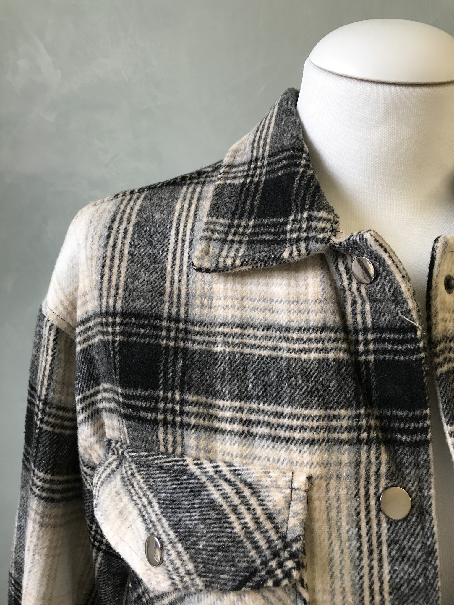 Checked shirt-jacket alford wit