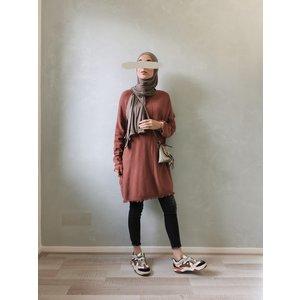 Wisp sweater viglio coral-brown