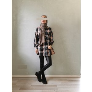 Checked shirt clevedon roze