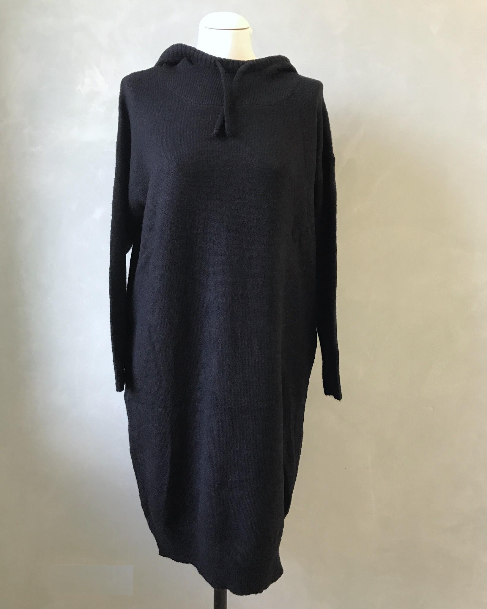 Capuchon sweater eraclea zwart