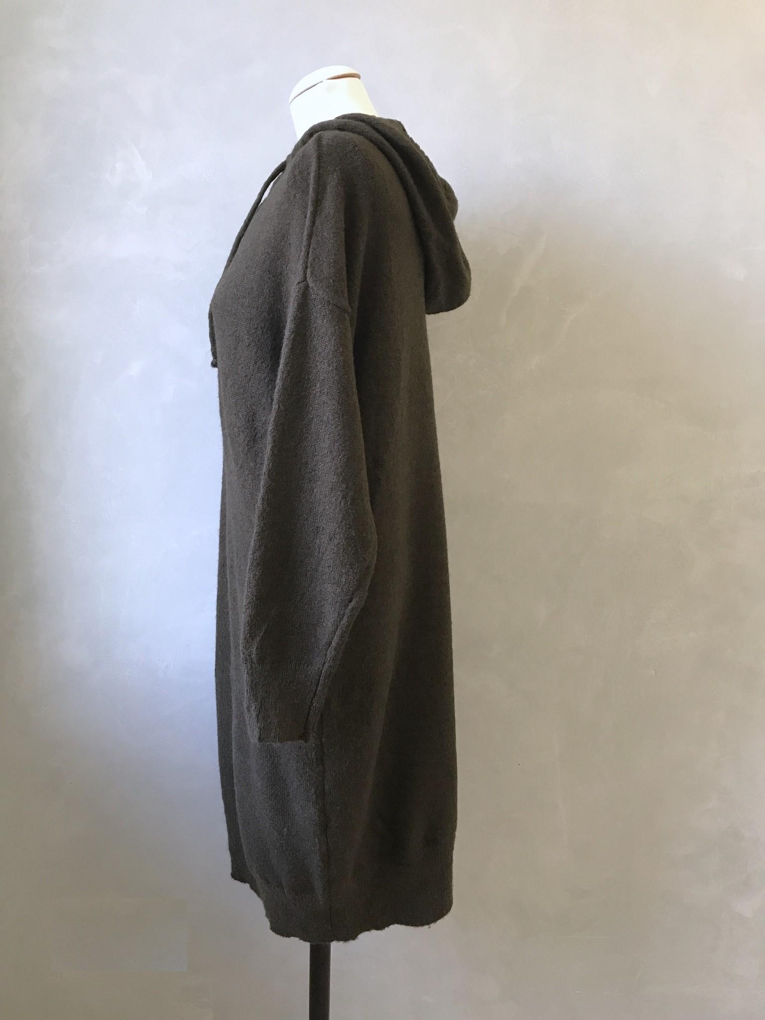 Capuchon sweater eraclea groen