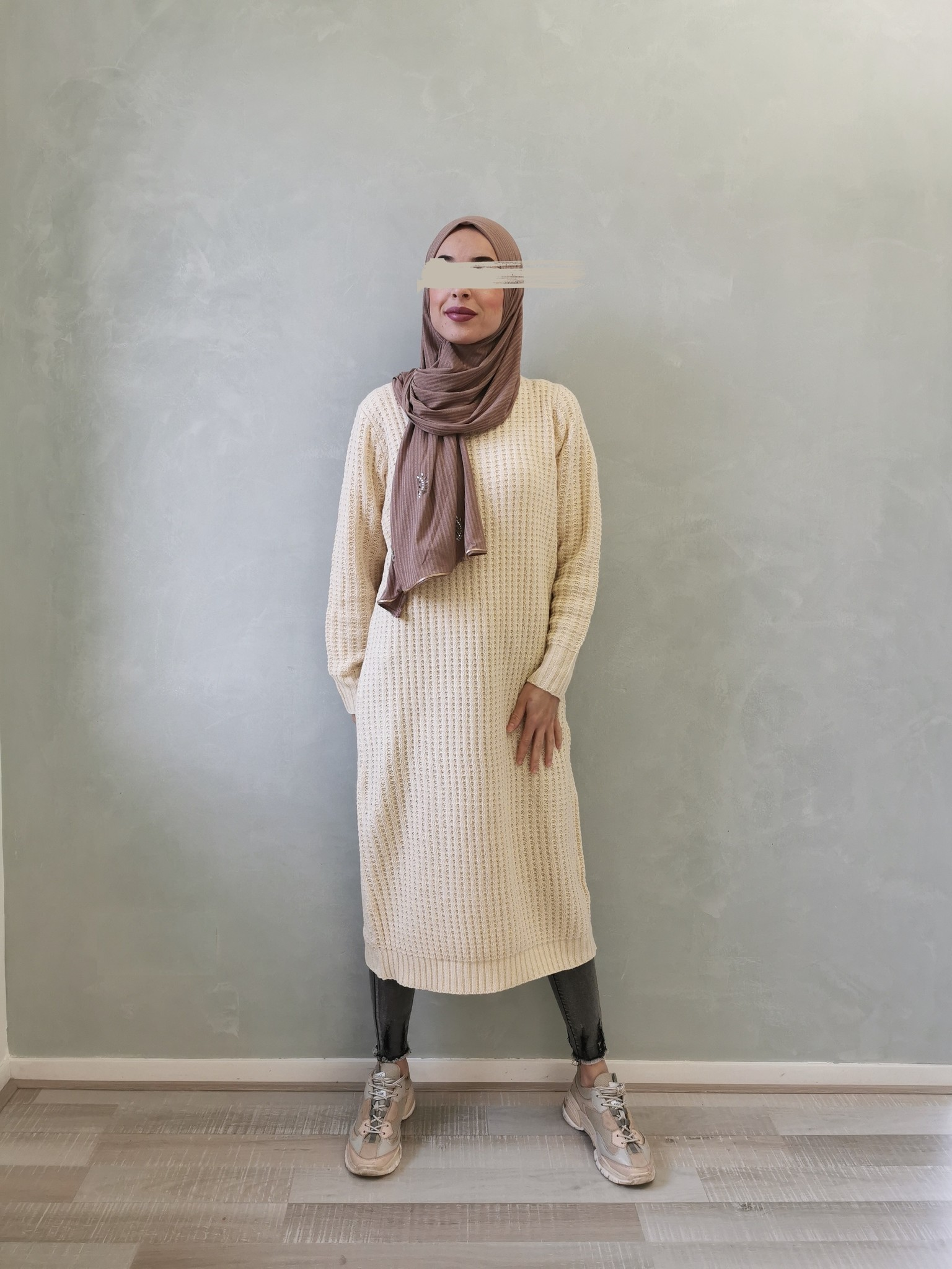 Knitted sweater cromer off white