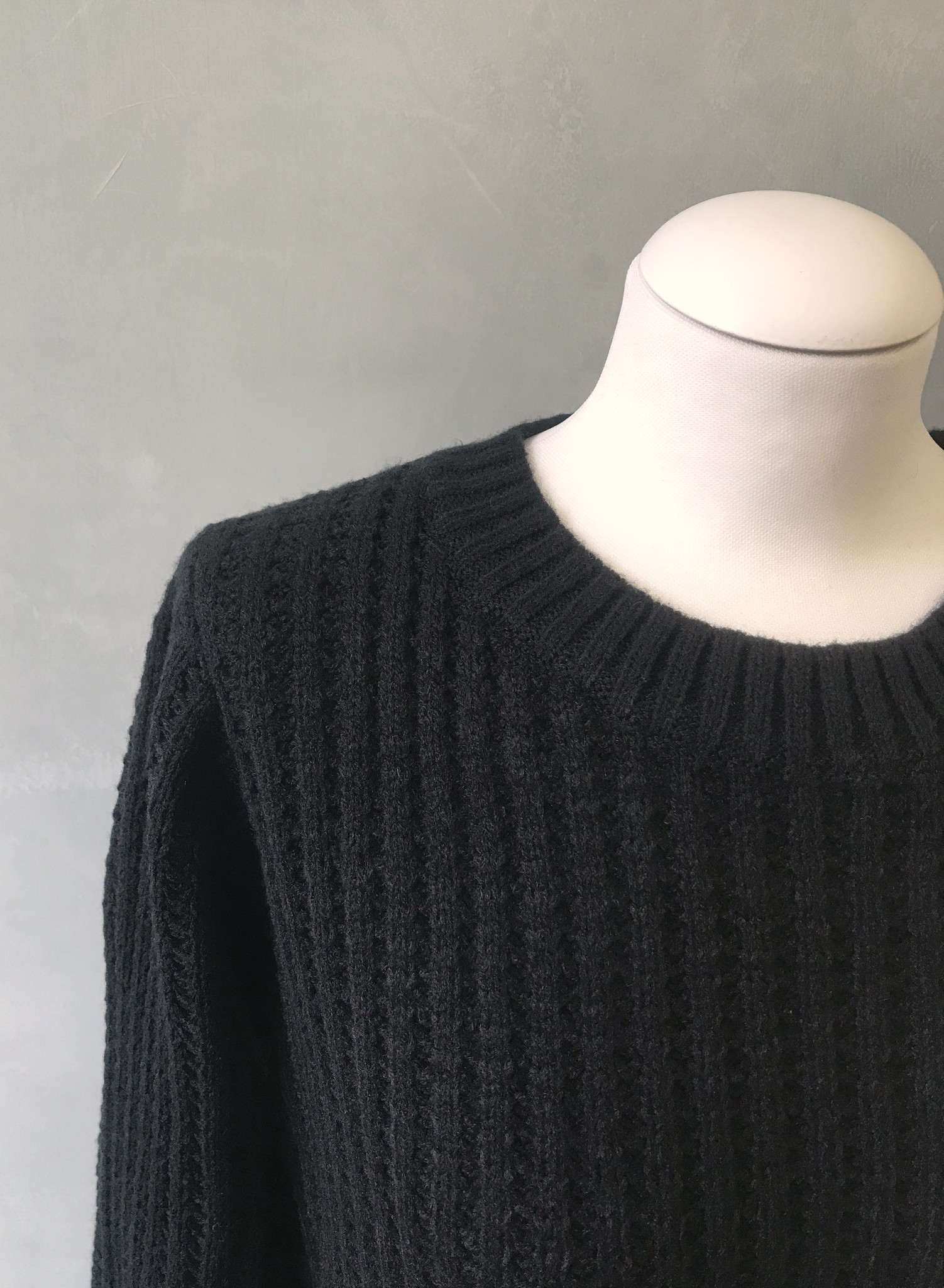 Knitted sweater cromer black