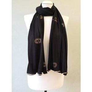 rhinestone scarf tracka black-gr