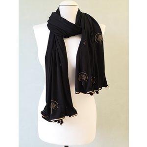 rhinestone scarf palma black-gr