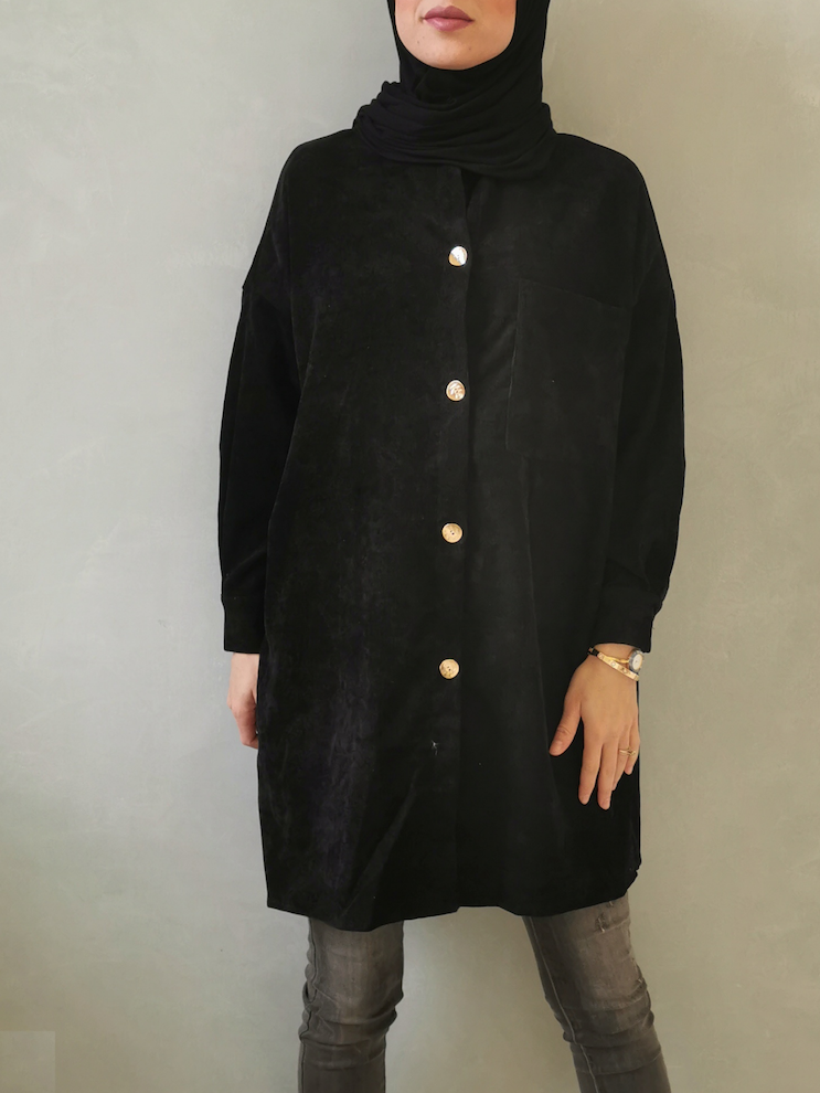 Curduroy shirt antelao black