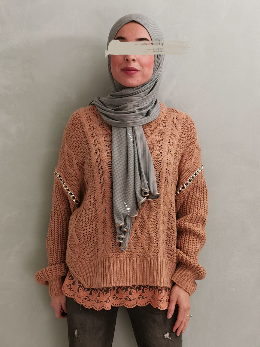 cable sweater canaro camel